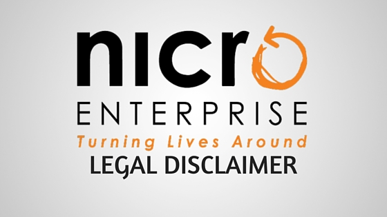 nicro enterprise legal disclaimer